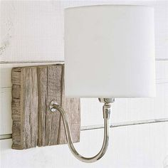 Regina Andrew Reclaimed Wood Bent Arm Pinup Sconce