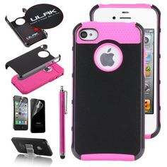 Pandamimi ULAK(TM) Deluxe Sweety Girls Fashion TPU + PC 2-Piece Style Soft Hard Case Cover for iPhone 4 4S with Screen Protector and Stylus and Stand (Black/Rose) by ULAK, http://www.amazon.com/dp/B00FDHG6IA/ref=cm_sw_r_pi_dp_lTqqsb0Z1MSJF