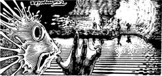 Thoopshib the Kuo-Toan monk operates a barge across the Svartjet River deep in the Underdark. (Dave Trampier from AD&D module D1-2: Descent into the Depths of the Earth, TSR, 1981; originally from D2: Shrine of the Kuo-Toa, 1978.) Trampier usually...