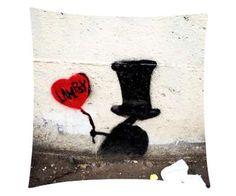 Black Hat Digital Printed Cushion cover.