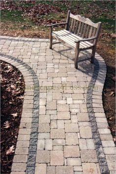 Landscapes 4 Less cobble paver walkway