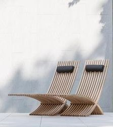 Tumbonas ó sillas para exterior fabricadas con madera