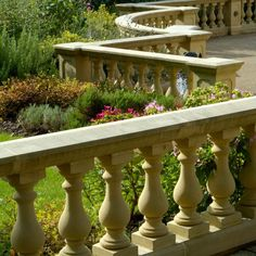 A railing supported by balusters, especially an ornamental parapet on a balcony, bridge, or terrace. Balustrade Design, Grand Stairway, Architectural Services, Cast Stone, Park Hotel, Outdoor Settings, Stairways, Facade, Pergola