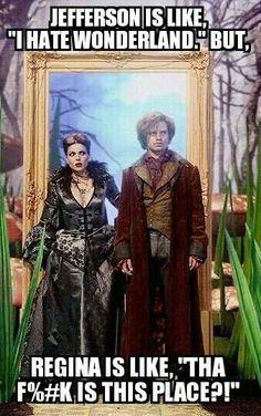 #OUAT - #EvilQueen #ReginaMills #MadHatter #Jefferson