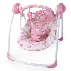 Bright Starts Pretty In Pink Blossomy Blooms Portable Swing - Nursery Furniture & Accessories - Nursery - Baby & Toddler - The Warehouse Baby Shower Gifts, Baby Gifts, Bloom High Chair, Baby Doll Nursery, Baby Doll Accessories, Baby Swings, Baby Alive, Infant Activities, Baby Essentials