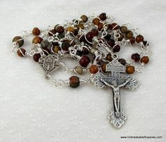 Knights of Columbus Rosary Beads  by unbreakablerosaries.com, $60.00