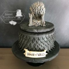 Game of thrones themed grooms cake Cookie House, Custom Cakes, Grooms, Cake Cookies, Sweet Treats, Traditional, Game, Desserts, Food