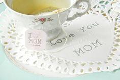 FREE printable mother's day Tea tag