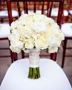 I love the stem cover and the same flowers I liked in other bouquets but in shades of white for me