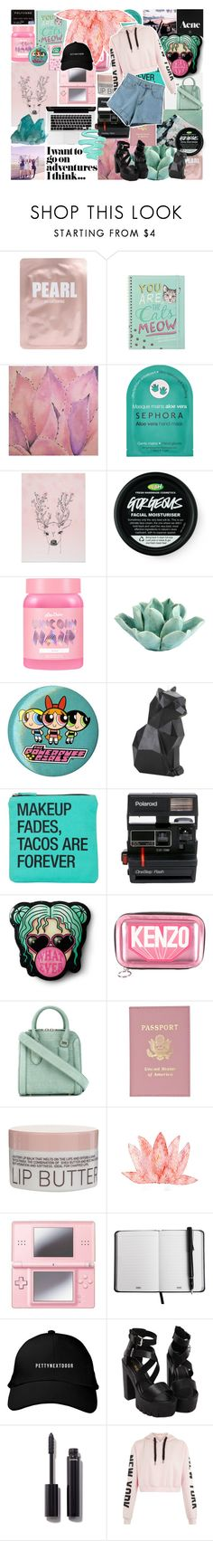"""""""GODDESS"""" by skittlebum ❤ liked on Polyvore featuring Lapcos, Ren-Wil, Sephora Collection, Lime Crime, HomArt, Hot Topic, Mormor, About Face Designs, Polaroid and Kenzo"""
