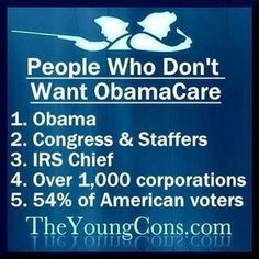 People who don't want Obamacare