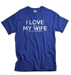 Snowmobile gift for husband snowmobile shirt I LOVE by UnicornTees