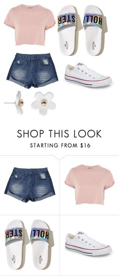 """""""end of summer"""" by my4dazz on Polyvore featuring Topshop, Hollister Co., Converse and Poporcelain"""