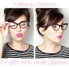 Makeup Tips for Girls Who Wear Glasses| via Keiko Lynn
