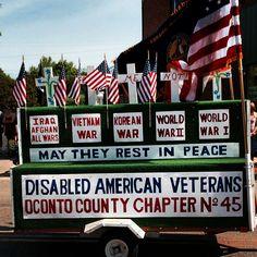 Big time salute to all veterans at Oconto Parade