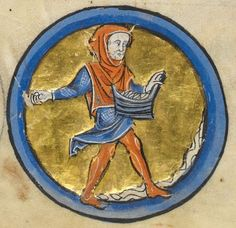 "Detail from ""The Rutland Psalter"", medieval (c1260), British Library Add MS 62925. f 5v"