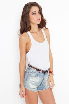 White tank. Cutoffs. Kind of forever sexy.