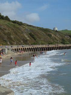 Sunny sands beach Folkestone Kent , England [shared]