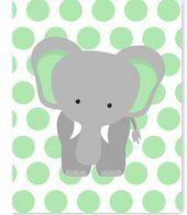 Elephant Nursery Art, Gender Neutral Baby Decor, Children's Decor, Toddler R. Elephant Canvas Art, Elephant Nursery Decor, Baby Elephant, Nursery Canvas Art, Painting Canvas, Baby Animal Nursery, Jungle Nursery, Baby Animals, Jungle Safari