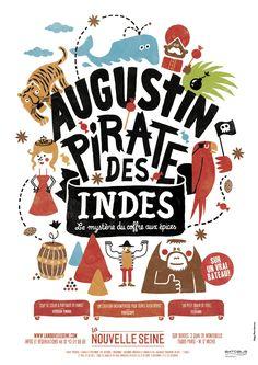 Ce spectacle d'Augustin Pirate des Indes va plaire aux enfants pour son dynamisme et aux parents pour son histoire. Êtes vous prêts à partir à la recherche d'épices?