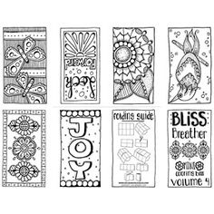 New Mini Coloring Books | Coloring books, Hand drawn and Bliss
