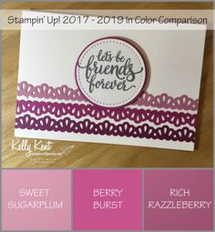Stampin' Up! 2017 In Color Comparison - Berry Burst | Kelly Kent mypapercraftjourney.com