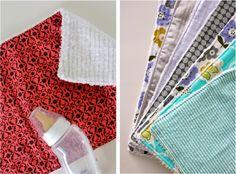 Celebrate BABY—TUTORIAL: Burp Cloth Gift Sets | MADE http://www.danamadeit.com/2012/04/celebrate-baby-tutorial-burp-cloth-gift-sets.html