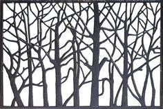 "44""W x 29""H Tree Cast Iron Railing Panel"