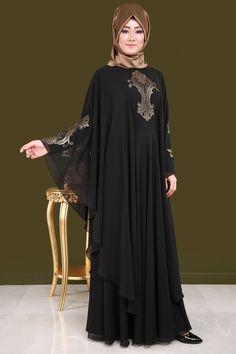 Al Karam Latest Abaya Designs Hijab Evening Dress, Black Evening Dresses, Hijab Dress, Muslim Women Fashion, Arab Fashion, Abaya Designs, Couture Dresses, Fashion Dresses, Estilo Abaya