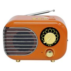 Poste Radio Vintage, Radios, Marshall Speaker, Bluetooth, Sons, Products, Orange Color, Drum Kit, Band