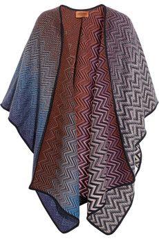 OMG - I'm IN LOVE! Missoni Reversible wool-blend wrap  | NET-A-PORTER