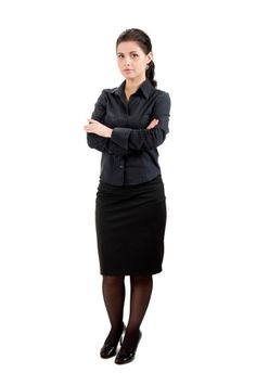 Imagen libre de derechos: Businesswoman with arms crossed