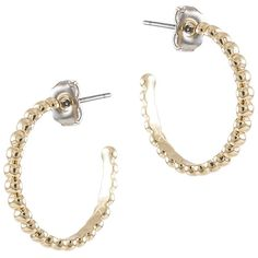 Jardin Gold Mini Boules Hoop Earrings ($25) ❤ liked on Polyvore featuring jewelry, earrings, gold hoop earrings, 18k gold jewelry, gold earrings, 18 karat gold jewelry and yellow gold hoop earrings