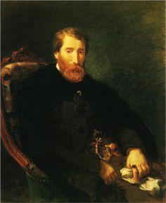 Portrait Of Alfred Bruyas   Eugene Delacroix