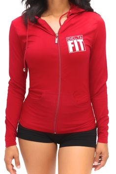 Ladies, let's face it... it gets cold outside! Well, this uber cute jacket is here to help on those chilly mornings you're headed out for a 5K jog or those cold late nights you're about to hit the tra