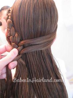 Half French Braid Hairstyle - BabesInHairland.com (8)