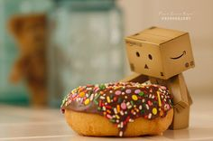 Danbo and Donuts Danbo, Fun Questions To Ask, This Or That Questions, Funny Nicknames, Paper Robot, Box Robot, Amazon Box, Cute Names, Cute Box
