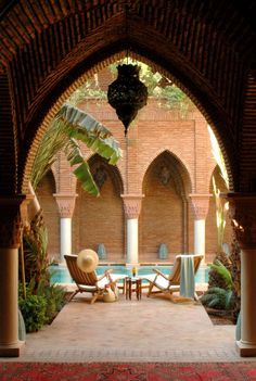 Love the pool at La Sultana in Marrakech. True luxury.