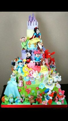 Amazing disney cake! That would take so long to do the characters