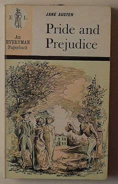 Jane Austen: Pride and Prejudice An Everyman Paperback, n° 1022 Dent - London, 1968 cover drawing by B.S. Biro