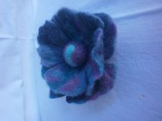 Felted Flower Brooch Flower  Accessory by FahionFeltProducts