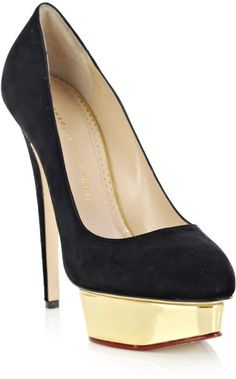 Charlotte Olympia - Dolly in black suede.  Encore Collection 2012.