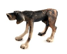 Dogs in Art at the StockBridge Gallery - Brindle Standing Dog by Virginia Dowe Edwards, Large Size @ £325 - Small Size @ £225 (http://www.dogsinart.com/brindle-standing-dog-by-virginia-dowe-edwards/)