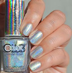 Nails Context: Color Club Enchanted  #holo #holographic #holonails #holographicnails #colorclub #swatch