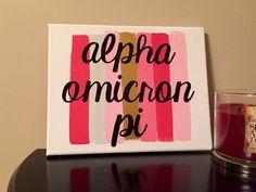 Paint Stroke Sorority Canvas: Alpha Omicron Pi // AOPi Canvas