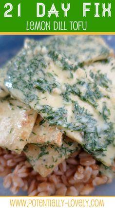 21 Day Fix Lemon Dill Tofu :: http://potentially-lovely.com