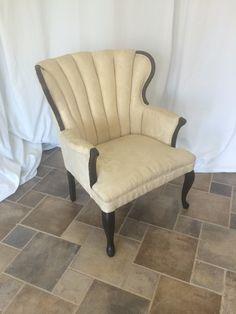 Upholstered cream ch