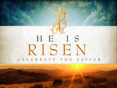 Golden Cross background picture of He is risen Christian photo