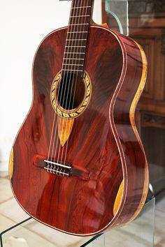 Cocobolo B&S, Cocobolo Top Hauser Concert Classical Guitar