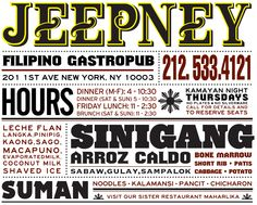 Jeepney; Filipino Gastropub - Offal Tasty - 1st between 12th and 13th